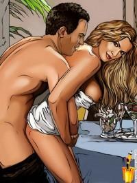 Celebrity Comics - hot passionate sex