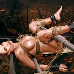 Beautiful women in the world handcuffed, naked and submissive - Celebs BDSM Comics